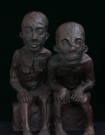 16.Couple.Bronze 2-8 & 3-8 L30cmxH 30 cm