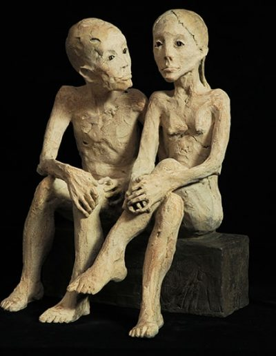 couple bronze.leg35x30x15
