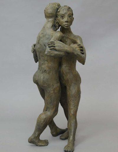 couple danceurs bronze 78hx30lX48pLEG