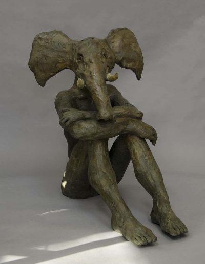 elephant bronze 78HX40pX70lLEG