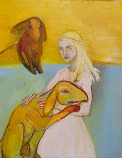 la femme et les chiens120x100IMPR
