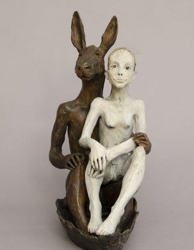 la fille et la lipin bronzeLEg