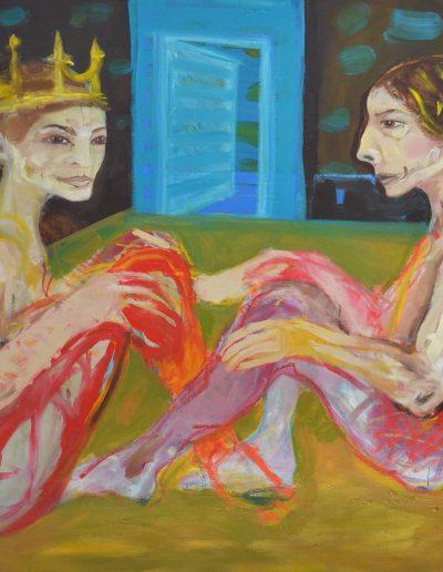 la reine et la princesse 120X100