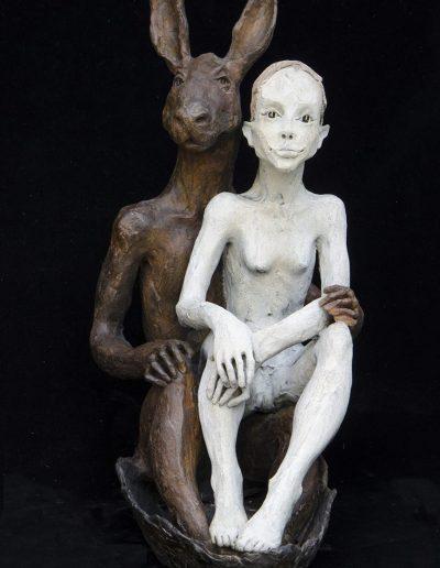 le lapin et le fille bronzeLEG