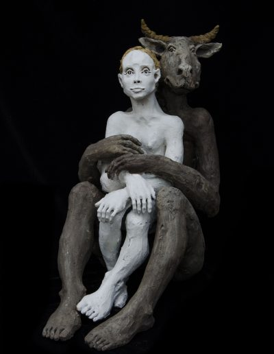 le minotaure et la femme 120cm h