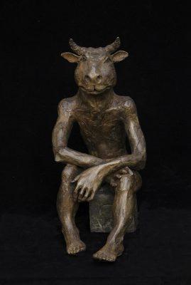 Minotaure bronze 51Hx25Px38LcmLEG