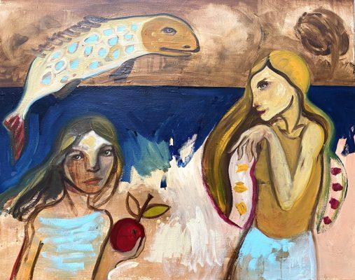 peinture huile sur toile 92x74cm