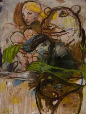 l'ours peinture